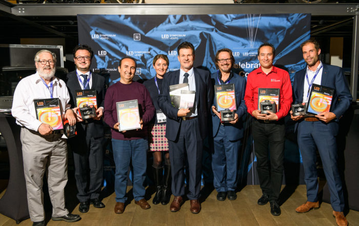 Image of various Lighting Professionals honored by Luger Research for their longstanding support of LED professional.